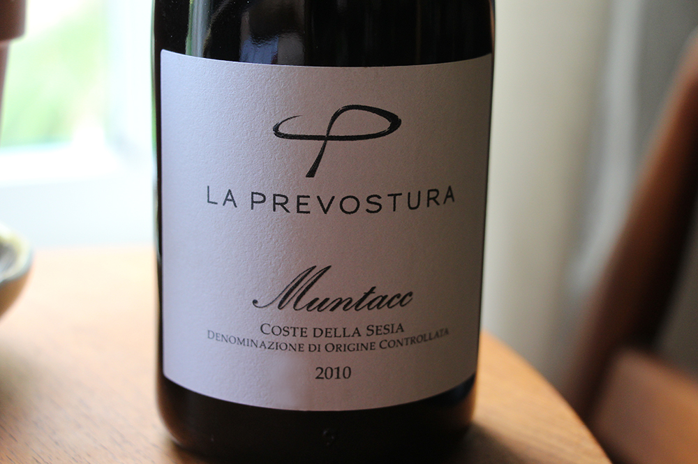 La Prevostura's entry-level red, labeled as Coste Della Sesia, despite being 100% from the Lessona appellation