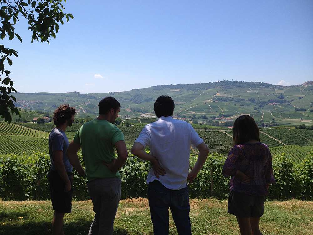 Karl, myself, Alfio and Andrea, standing atop of the Bricco Boschis