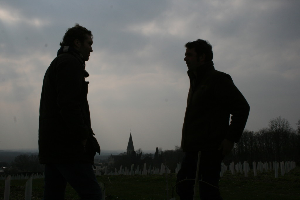 Romain Guiberteau and I discussing Brézé